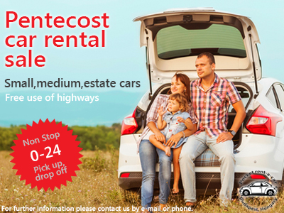 Rent a car at Pentecost (2015)