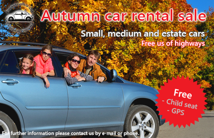 autumn car rental sale