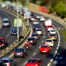 Driving safe in traffic jam