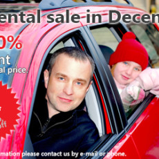 Car rental sale in December (2015)