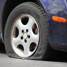 What should you do if you become a flat tire?