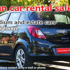 Autumn car rental sale (2016)