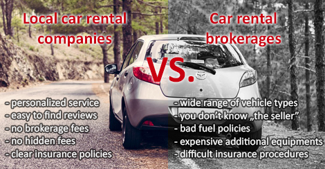 Local Car Rental Companies Vs Car Rental Brokerages Blog Pocket