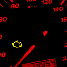 What to do if the engine control lamp lights up?